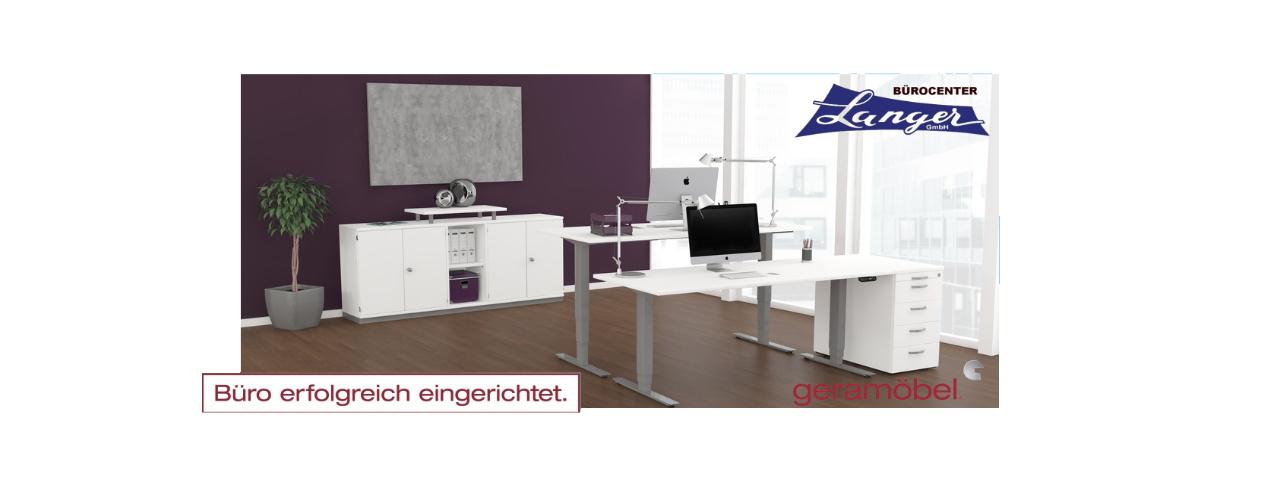 Büro erfolgreich eingerichtet mit Geramöbel